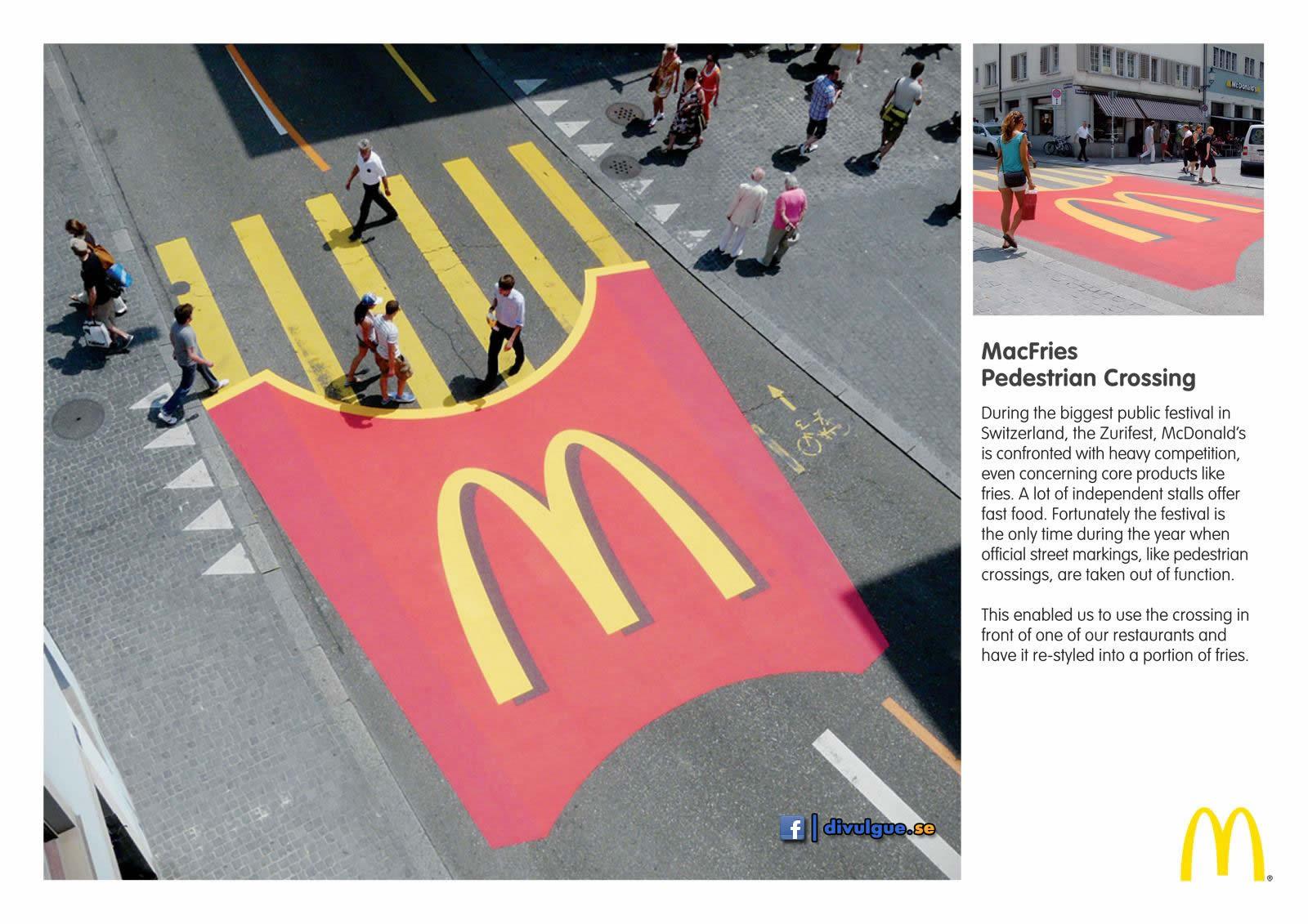 MC Fritas na faixa de pedestres...