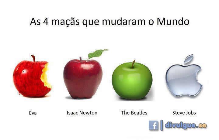 As 4 maçãs que mudaram o mundo...